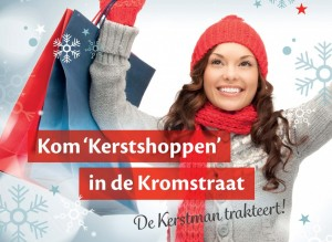 Kerstshoppen in de Kromstraat